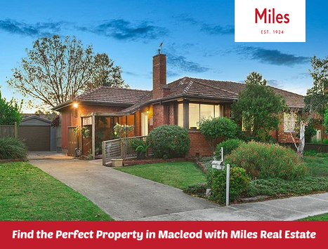 Finding a perfect property in Macleod? Get in touch with Miles Real Estate as we have a giant database of perfect properties in Macleod. From luxury domains surrounded by wonderful natural parklands to the fabulous affordable homes, we offer everything.