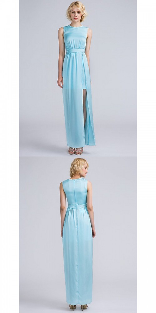 Bridesmaid-Dresses---Ankle-length-Satin-Chiffon-Bridesmaid-Dress-Furcal-Sheath-Column-Jewel-with-Sash-Ribbon-Split-Front-Pleats.jpg